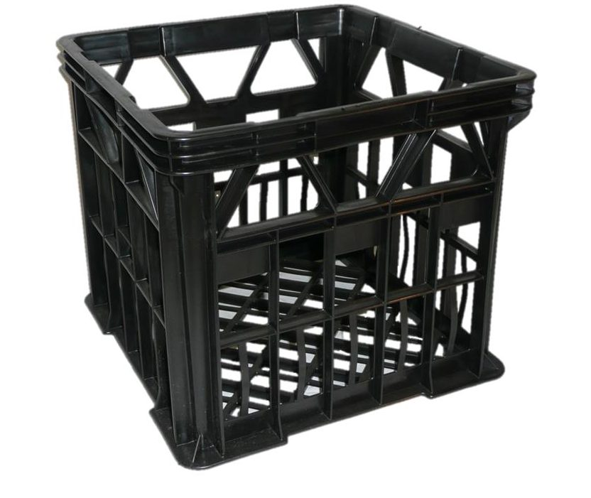 Milkblk ih120milk crate black viscount for What to do with milk crates